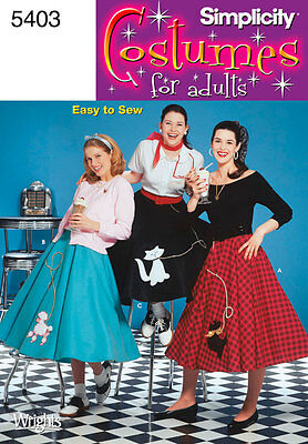 SIMPLICITY SEWING PATTERN Misses 1950s Poodle Circle Skirt sizes 6 - 22 5403