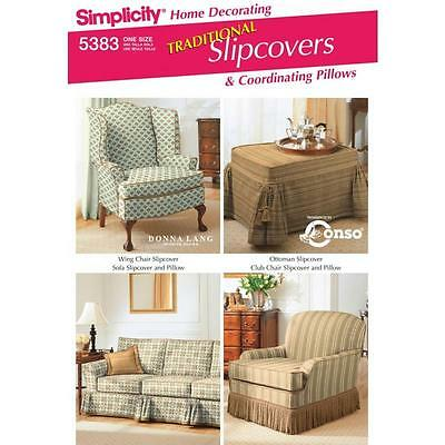 SIMPLICITY SEWING PATTERN Description: Home Decorating Slipcovers & Pillows 5383