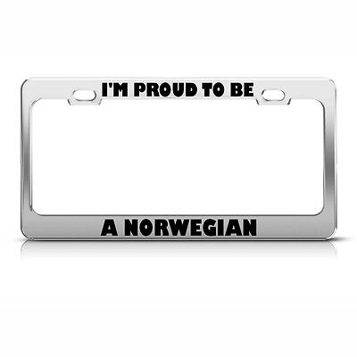Chrome License Plate Frame My Other Ride Is A Norwegian Fjord Horse 487