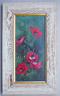 Poppies Oil Painting Framed