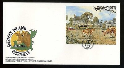 1992  Guernsey First Day Cover  - Island Products Mini Sheet