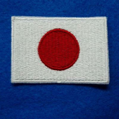 Japan Flag Japanese Iron on Sew Patch Applique Badge Embroidered Biker Sun Sport