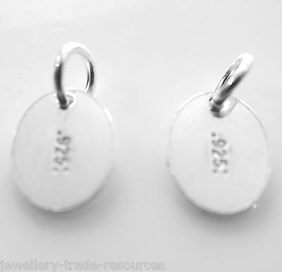 2x STERLING SILVER OVAL HALLMARK QUALITY TAG STAMPED 925 JEWELLERY MAKING + RING