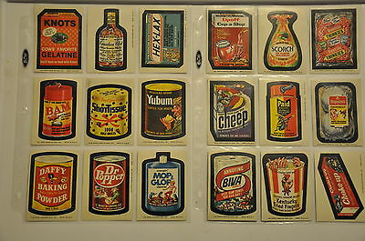 Wacky Packages 8th Series Complete Set 1974
