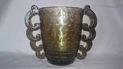 French Art Deco Grey Highly Stylized EXCEPTIONAL RARE Vase By Pierre Davesn