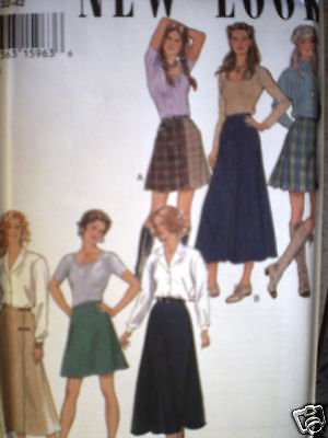 UNCUT Vintage New Look SEWING Pattern 6 8 10 12 14 16 Misses Skirt 6280 SEW OOP