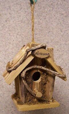 Bird House Rustic NEW Rough Hewn Wood