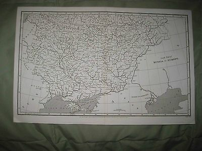 Superb Antique 1809 Southern Russia In Europe Arrowsmith Map Crimea Ukraine Fine