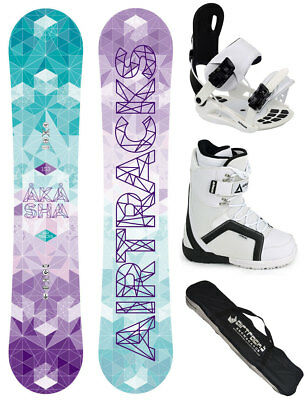 Damen Snowboard Set AIRTRACKS Pink Thunder+Bindung+Boots+Bag+Pad /146 150 156cm/