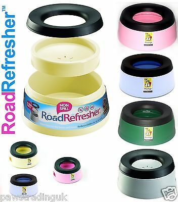 Road Refresher Non Spill Dog Puppy Pet Travel Water Bowl Small & Large Free Post