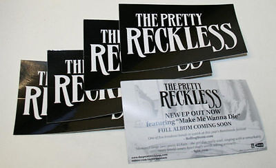 THE PRETTY RECKLESS Black & White 10 PACK PROMO STICKERS