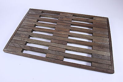 "Vintage Hard Wood Wooden Grate 31 5/8"" x 20 5/8"" x 1 1/8"" Architectural Decor"