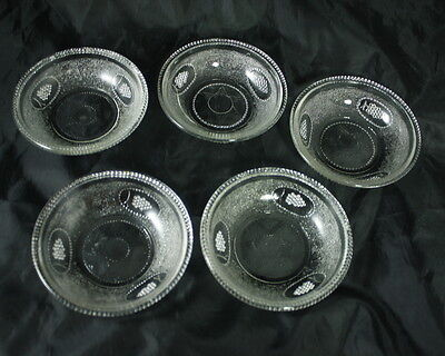 """4"""" Sauce Dish in the Beaded Grape Medallion pattern by Boston Silver"""