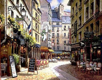 Canvas Print Paris Street Oil painting Picture Printed on canvas P403
