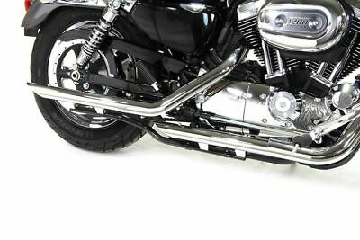 "Chrome 2"" Down Slash Muffler Slip On Exhaust Set 2014-2018 Harley Sportster XL"