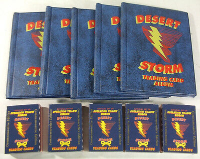 Lot of (5) 1991 Operaton Yellow Ribbon Desert Storm Factory Sets with (5) Albums