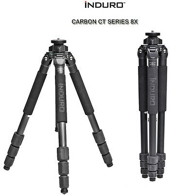 """Induro CT214 Carbon Fiber 8x CT-Series 4 Section Tripod EXTENDS TO 61.2"""" Openbox"""