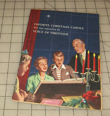 1955 FIRESTONE Tire and Rubber Co. Favorite Christmas Carols Booklet