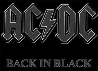 AC / DC Rock Group Back In Black Logo T-Shirt Size XXL (2X), NEW UNWORN