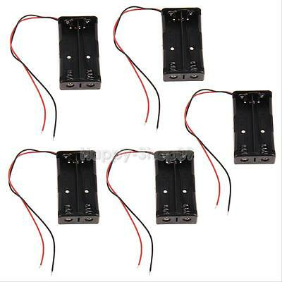 5pcs Plastic Battery Case Holder Storage for 2x 18650 Rechargeable Battery