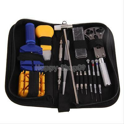 14Pcs Watch Repair Tool Opener Link Remover Spring Bar Kit with Carrying Case