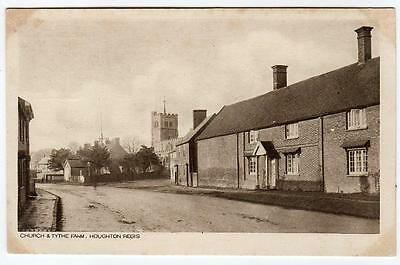 Early HOUGHTON REGIS  Church and Tythe Farm Luton Bedford  Postcad
