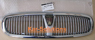 Rover 400 Chrome Grille Grill Assembly With Badge P/N DHB101950MMM 414 416 420