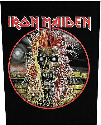 XLG Iron Maiden First Album Rock Music Woven Back Jacket Patch Applique