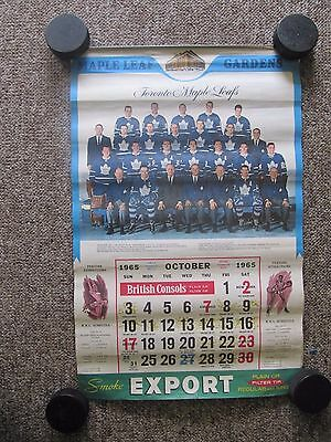 SEVEN Toronto Maple Leafs Calendars. 5 Export A + 2 Dominion. 1965 to 1980