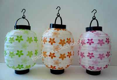 Set of 3 Japanese CHOCHIN Papper SAKURA Lantern LED Light Home Garden Wedding