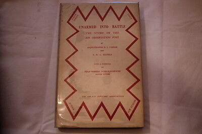 WW2 British Air Observation Post Unarmed Into Battle History Reference Book