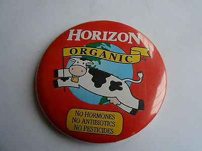 Cool Vintage Horizon Organic Dairy Milk Products Advertising Pinback