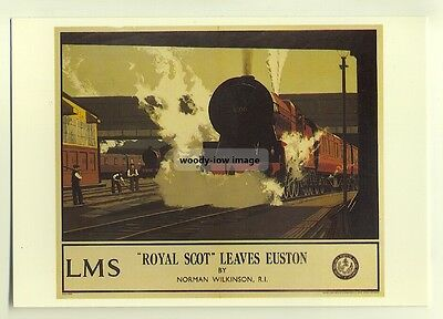 "ad2790  -  LMS  -  ""Royal Scot"" leaves Euston  -  modern poster advert postcard"