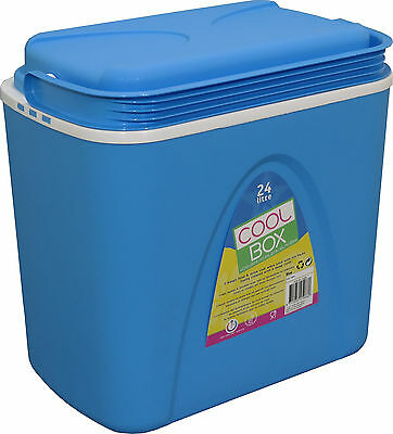 24L Large Blue Cooler Box Camping Beach Picnic Ice Food Insulated Coolbox Travel