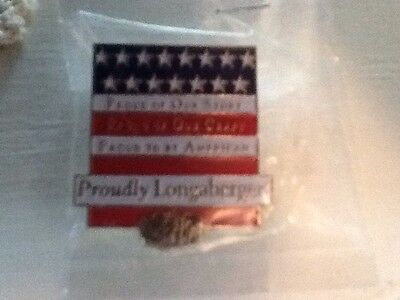 Longaberger All American Proudly Longaberger Lapel Pin