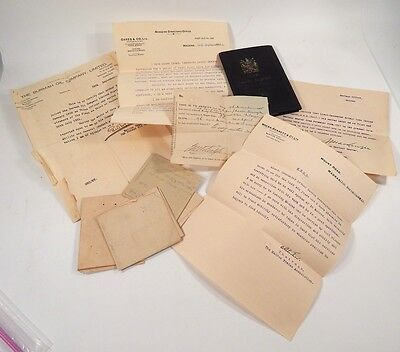 Early 20th Century Naval + Career Records Certificates 1911-1930 Includes WWI