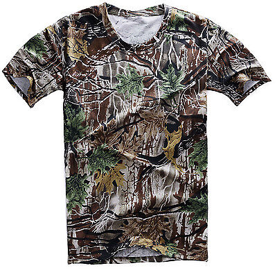 Tactical Paintball Hunting Bionic Real Tree Camo T-Shirt In Sizes-35813