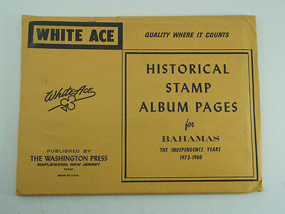 White Ace Stamp Album Pages 1973-1980 Bahamas The Independence Years 5625