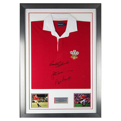 Wales Rugby Shirt Autographed By 3 Welsh Legends JPR Williams Edwards & Bennet