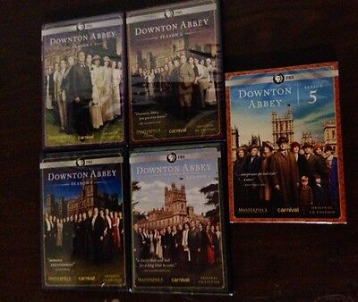 Downton Abbey Seasons 1-5 DVD (1,2,3,4,5) Brand New - FREE EXPEDITED SHIPPING!!!