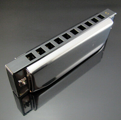 Free New Special Swan Harmonica 10 Holes Key Of C Silver with Case High Quality