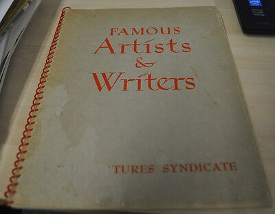 1949 Famous Artists & Writers King Features Syndicate With Comic Strip Art (5.0)