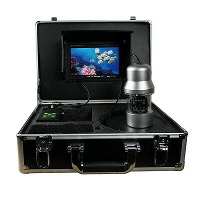 "7"" LCD Underwater 100m Video Camera System Fish Finder 700TVL 14 LED + SD Card"
