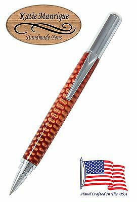 Rollester Roller Ball Pen in Red Corn Cob with Chrome Hardware / #459