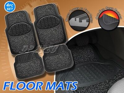 DICKIES ALL WEATHER WATER PROOF 2PCS FRONT FLOOR MATS BLACK FOR BMW MB SAAB VW