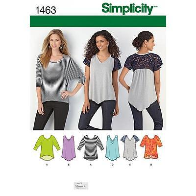 Simplicity Sewing Pattern Misses' Knit Tops Sizes Xxs - Xxl 1463