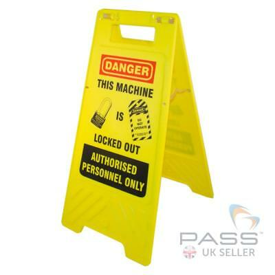 Lockout Tagout Information Stand - 'This machine is locked out'