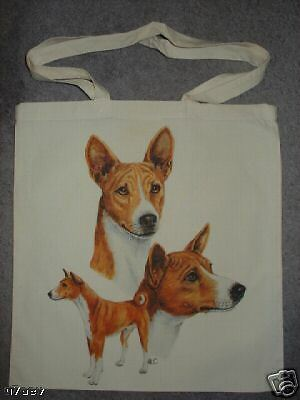 Basenji Dogs on  A Tote Canvas Bag