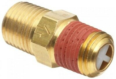 "Control Devices Brass Ball Check Valve, 1/4"" NPT Male, New, Free Shipping"