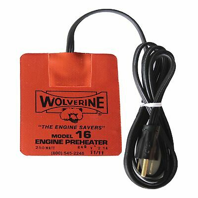 Wolverine Engine Oil Sump Pre Heater Pad 240v/250w 3.5/4.5 Inch - M16/250